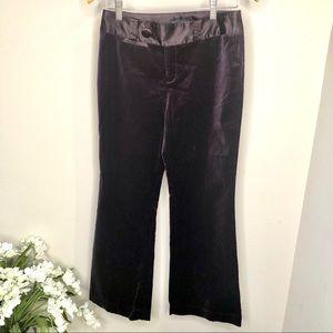 Banana Republic Velvet & Satin Trousers Purple